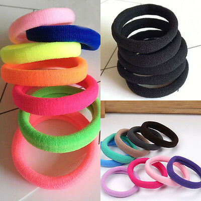 20pcs Elastic Rope Womens Girls Hair Ties Ponytail Holder Head Bands Hairband