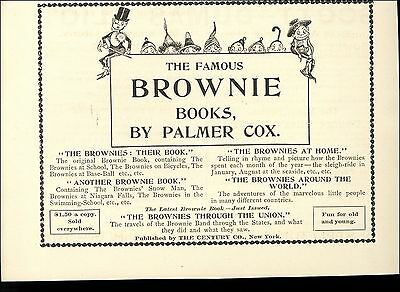 1895 Famous Brownie Books Palmer Cox AD