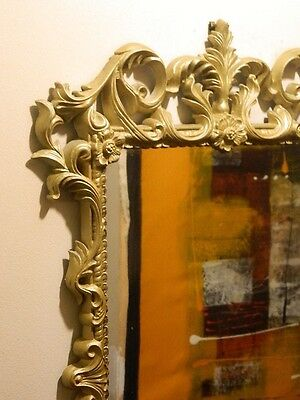 Retro Shabby Chic Mirror Gilt With Extensive Caving Wall Hanging Pick Up Menai