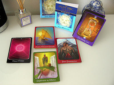 THE PSYCHIC TAROT Coffret 65 Cartes tranches Or + Livre Oracle Deck