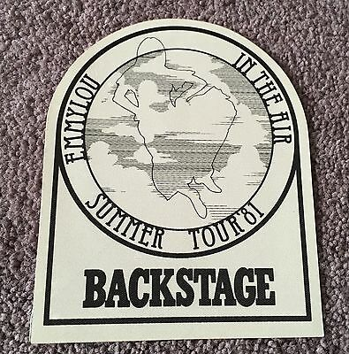 Emmylou Harris In The Air 1981 Summer Tour Concert Unused Backstage Pass