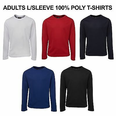 Podium KIDS Plain T-Shirt 100% POLY JBs Long Sleeve Blank Basic Tee EASY DRY