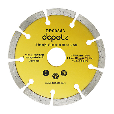 "Mortar Raking Disc/ Diamond pointing Raker Disc 115mm 4.5"" angle grinder Blade"