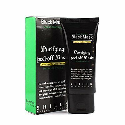 Masque Charbon Shills Anti Acné Point Noir Black Mask Soin Peau Visage Peeling