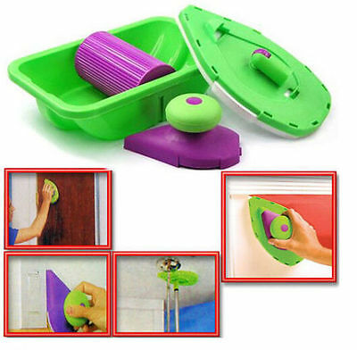 Point Paint Pad Painting Roller Tray Sponge Set Kit Brush Home Wall Tool New