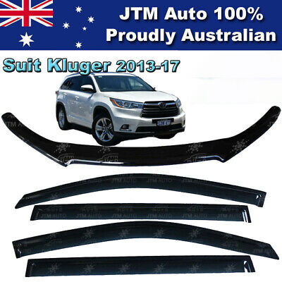 TOYOTA Kluger Bonnet Protector Guard and Weather Shields Window Visors 2013-2017
