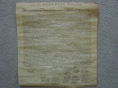 DECLARATION OF INDEPENDENCE Replica copy-looks/feels real 15.5x14in