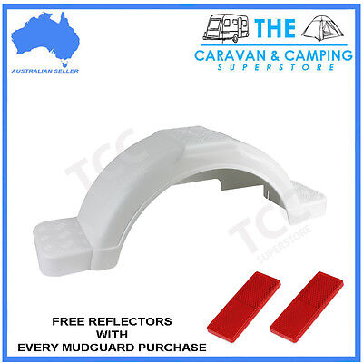 14in White plastic guard trailer mudguard with moulded steps