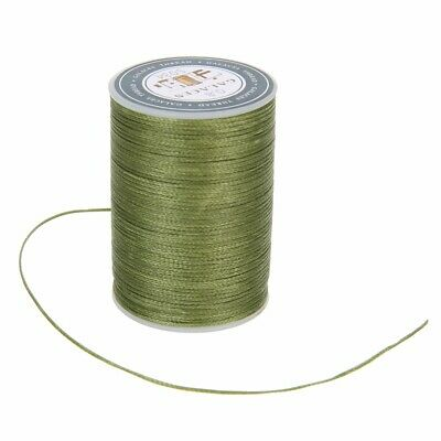 0.8mm Waxed Thread Repair Cord String Leather Sewing Hand Wax Stitching DIY 78m