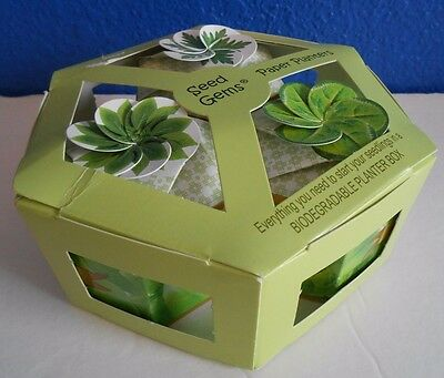 SEED GEMS Paper Planters HERBS Basil Parsley Oregano Seedlings NEW