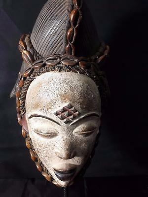 Old Tribal Maiden Punu Mask Gabon Africa, Fes-GBWKB