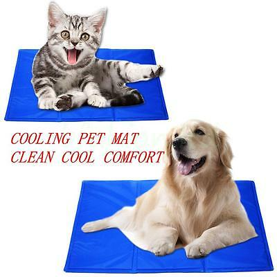 Soft Chilly Mat Cooling Pet Dog Cat Beds Indoor Summer Cool Gel Pad Mats 4 Size