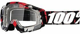 100 MX Motocross ACCURI Goggles (Magemo w/ Anti-Fog Clear Lens) 50200-212-02