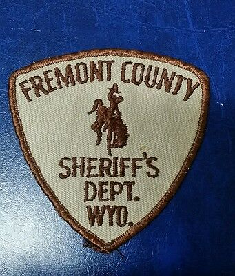 Vintage Fremont County, Wyoming Sheriff Police Shoulder Patch Wy