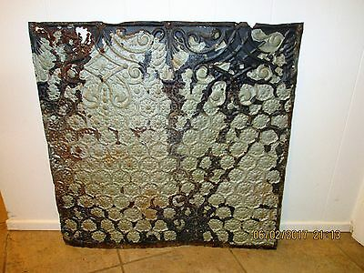 "Antique Authentic Victorian Tin Ceiling Tile 24"" x 24"", 4 Square Feet"