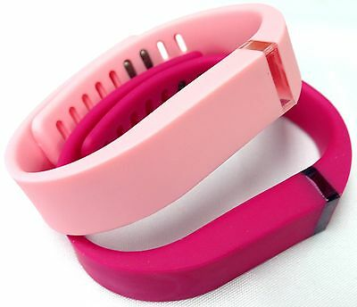 Large 1 Rose 1 Light Baby Candy Pink Bands Clasps For Fitbit Flex /No Tracker