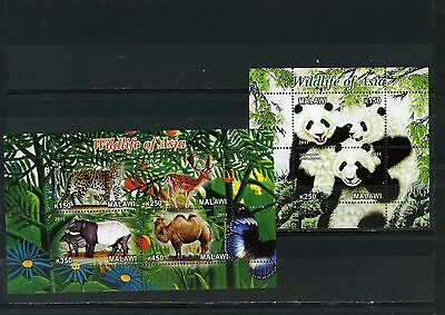 Malawi 2011 Fauna/animals Of Asia Sheet Of 4 Stamps & S/s Mnh