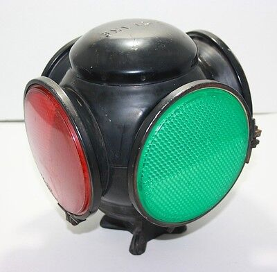 Original Adlake 4 Way Railroad Switch Signal Lantern Marked Burlington Northern