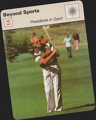 1979 Gerald Ford Sportscaster Card #26-11 Rare C Printing Nrmt-Mt From Cello