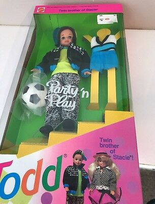 Mattel 1992 Todd Party N Play Barbie Doll, Stacie's twin Brother New in Box