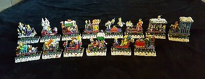Lot of 14 The Simpsons Christmas Express Hamilton Figurine Train 2003 Holiday