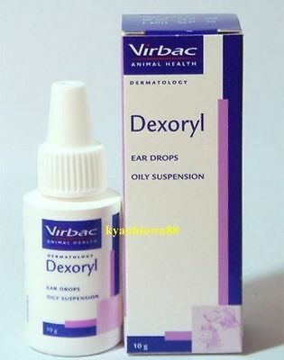 10ml DEXORYL EAR DROPS-SUSPENSION CAT DOG INFECTION Virbac - LONG DATE Oct 2018