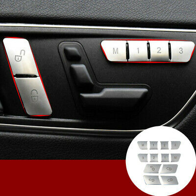 Inner Door Seat Memory Button Trim Cover 12pcs For Benz C Class W204 2008-2013