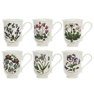 NEW Portmeirion Botanic Garden Bell-Shaped Beaker Set 6pce