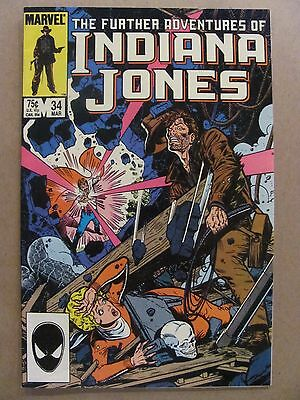 Further Adventures of Indiana Jones #34 Marvel 1983 Series LAST ISSUE 9.2 NM-