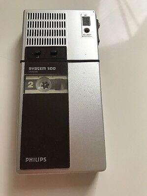 Philips Recorder Playback Device 500/LFH0595 Transcription System Mini Cassette
