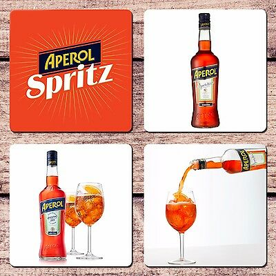 Aperol Spritz Coaster Set of 4 NEW Cocktail Aperitif Collector