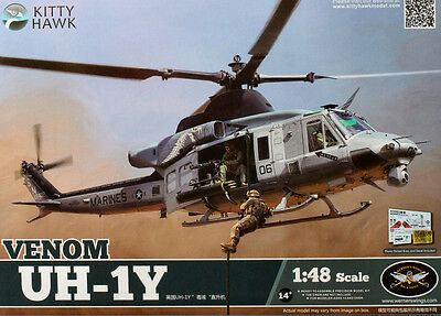 Kitty Hawk KH80124 1/48 UH-1Y Venom Helicopter FREE Shipping