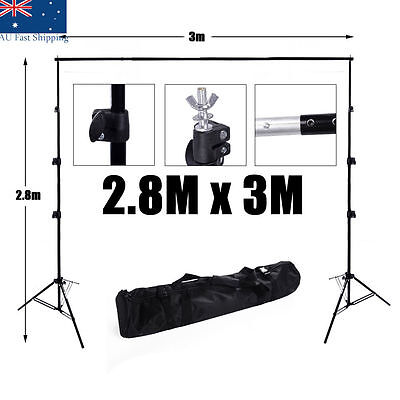 Photography Studio Background Support Backdrop Lighting Light Stand Kit 2.8x3m