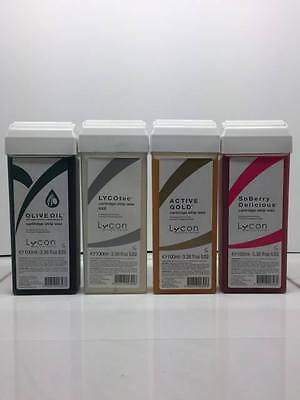 Lycon Olive Oil, Berry, Gold, Lycotec Cartridge Strip Wax 100ml 4 Pack