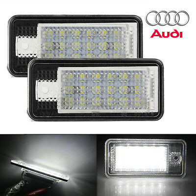 2X For Audi 18 LED License Number Plate Light Rear Canbus For Audi S3 A4 A6 S6