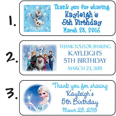 Personalized FROZEN BIRTHDAY PARTY MINI BUBBLES LABELS or Return Address Labels