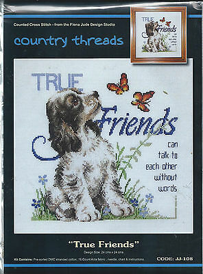 """ TRUE FRIENDS ""  Cross Stitch Kit,  Country  Threads"