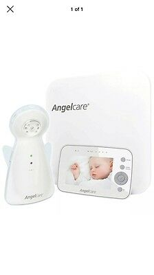 """Angelcare 3.5"""" Video Baby Monitor Movement and Sound AC1300 White"""