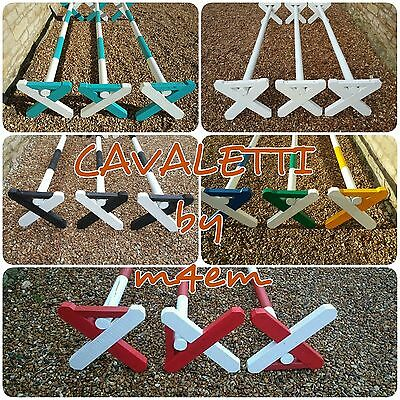 Set of 3 x cavaletti jumps with poles, choice of colours