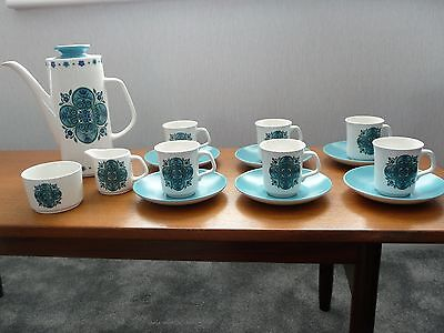 """Retro  1960's J and G Meakin """"Impact"""" coffee set, by Jessie Tait, 1969"""