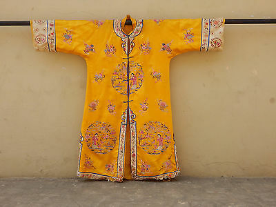 Antique Chinese Silk Hand Embroidered Robe (X293)