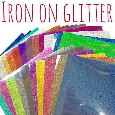 Glitter HTV - Iron On Glitter - Heat Transfer Vinyl - 39 colours