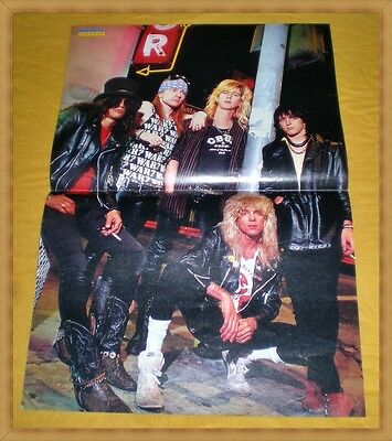 GUNS ´N ROSES / TOM CRUISE - doppelseitiges 80er Bravo Poster - TOP