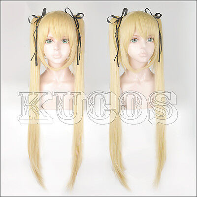 Dead Or Alive Marie Rose Cosplay Hair Wig 2 Clips On Ponytail +Free Black Ribbon