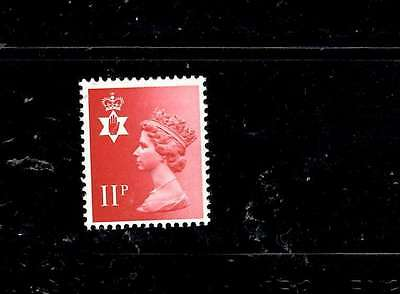 GB Northern Ireland 11p Scarlet Missing Omitted Phosphor Error  SG NI30ey MNH