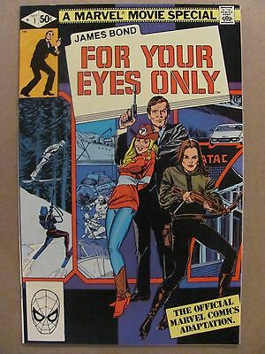 James Bond For Your Eyes Only #1 Marvel 1981 Series Roger Moore 9.2 Near Mint-