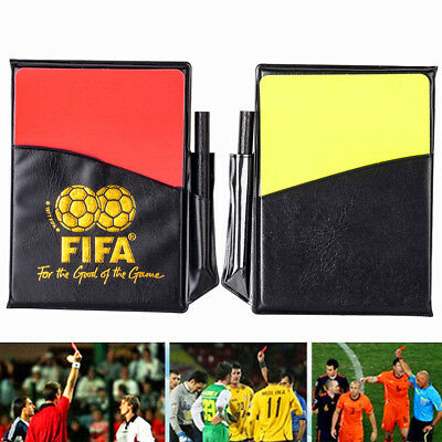 Sport Soccer Football Referee Wallet Notebook & Red Card & Yellow Card Accessory