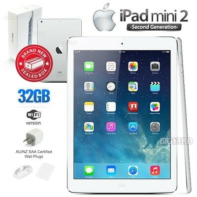 New Sealed Box APPLE iPad Mini 2nd Gen White 32GB Retina PC Tablet (WiFi Only)