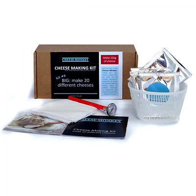 Cheese Making Kit - make 20 different artisan cheeses