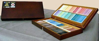 Podol'sk Artists pastel set 130 Colours Wooden box Pastels. Russian